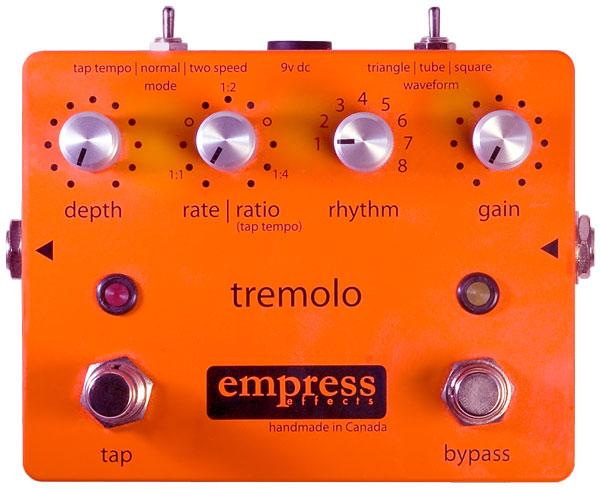 Empress pedal tremolo con tap tempo